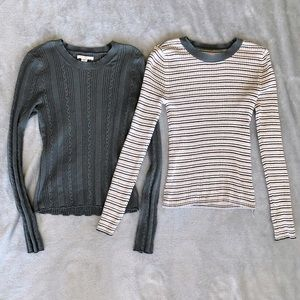 American Eagle Bundle Knit Top Sweater Shirt